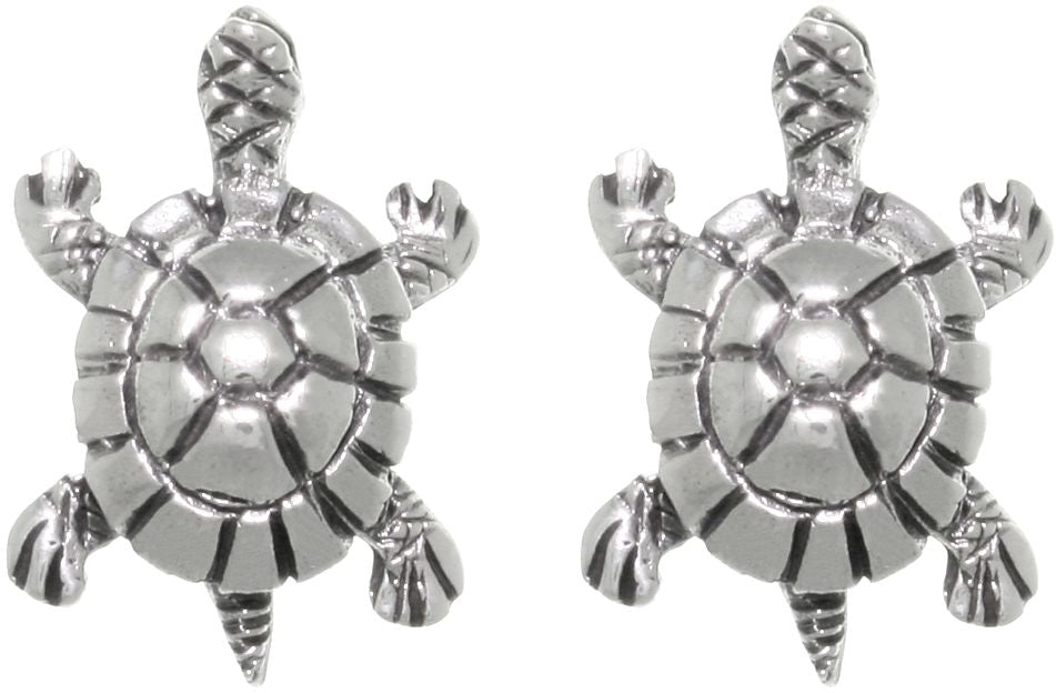 Jewelry Trends Sterling Silver Lake Turtle Stud Post Earrings