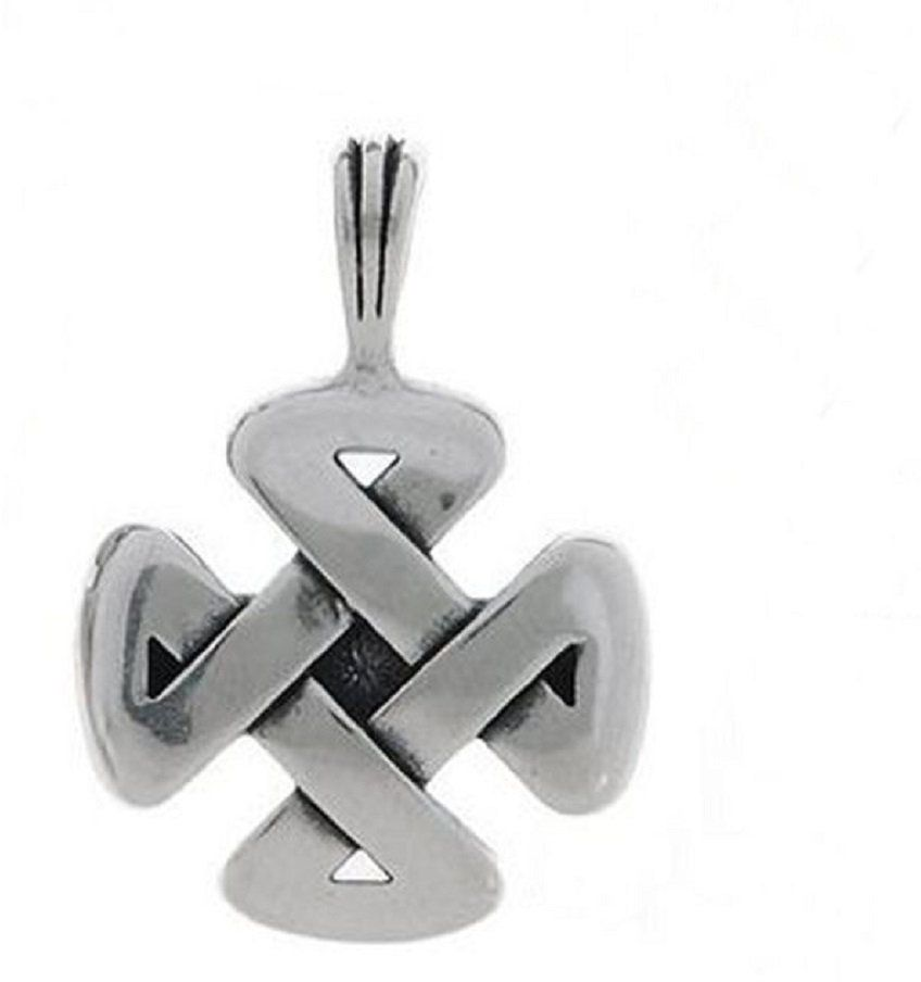 Jewelry Trends Sterling Silver Celtic Strength Pendant with 18 Inch Chain Necklace