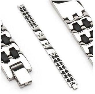 Jewelry Trends 316L Stainless Steel Panel Bracelet