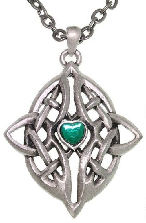 Jewelry Trends Pewter Celtic Infinity Heart Pendant on 24 Inch Chain Necklace