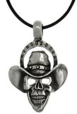 Jewelry Trends Pewter Mens Skull with Cowboy Hat Pendant