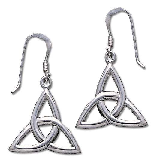 Jewelry Trends Sterling Silver Celtic Knot Work Trinity Triquetra Dangle Earrings