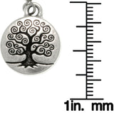 Jewelry Trends Antiqued Silver Plated Pewter Celtic Tree of Life Round Dangle Earrings