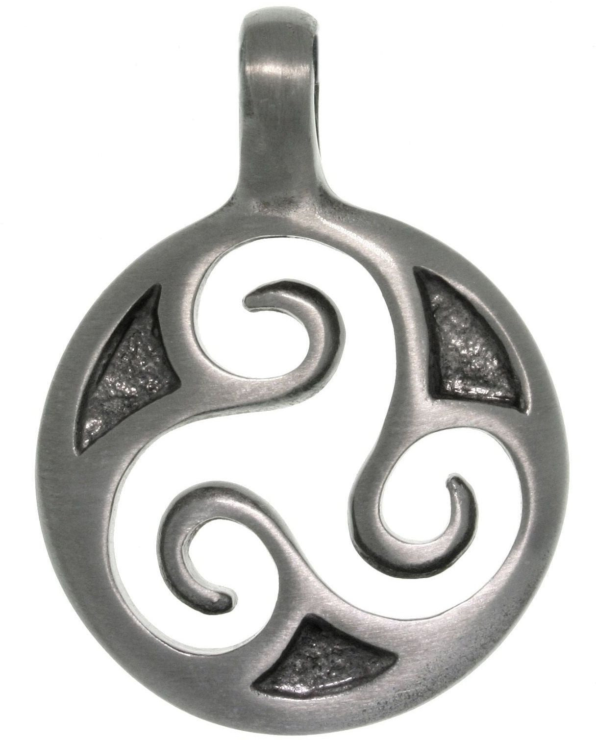 Jewelry Trends Pewter Celtic Triskelion Trinity Spiral Unisex Pendant
