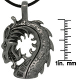 Jewelry Trends Pewter Dragon Head Unisex Pendant