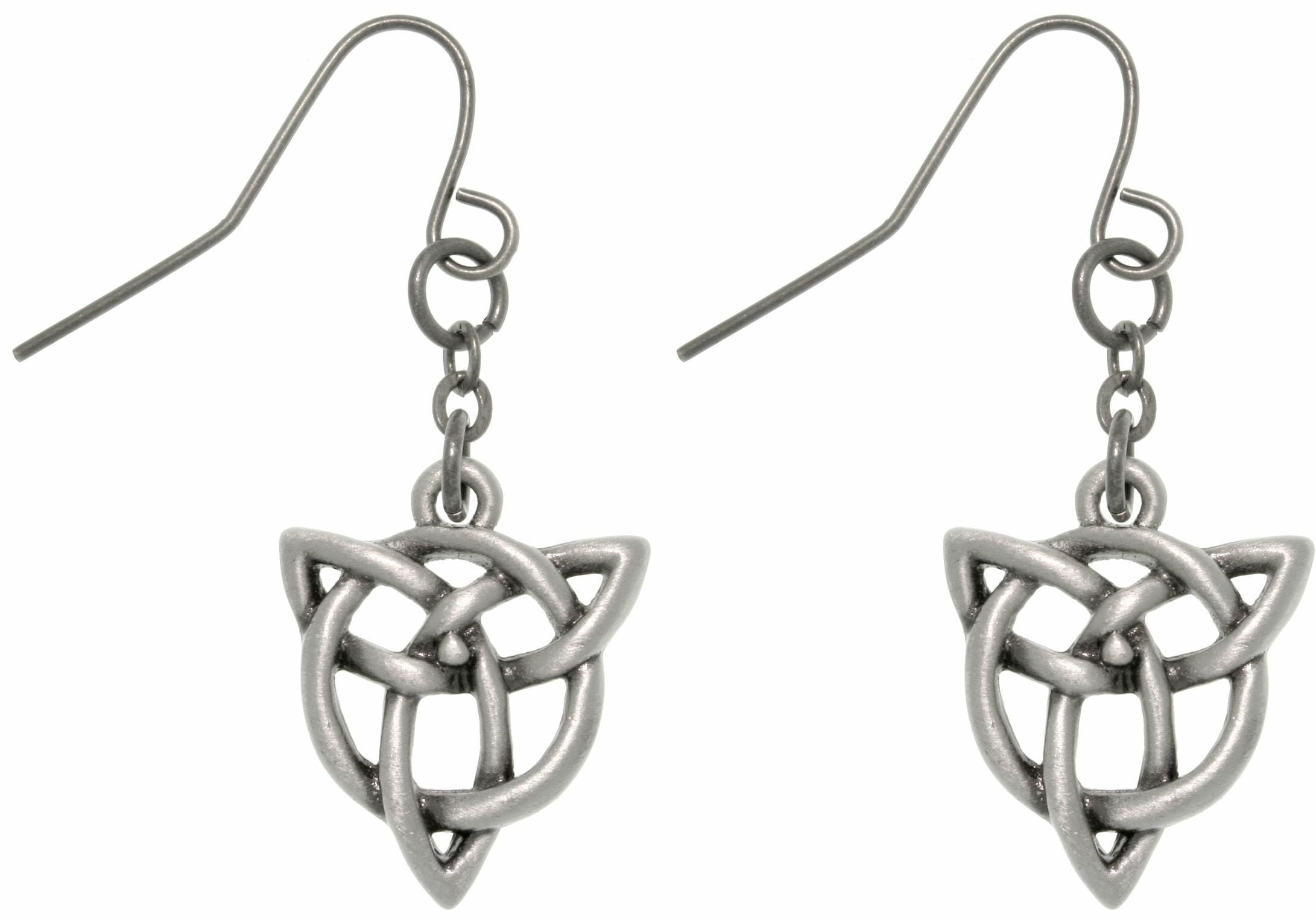 Jewelry Trends Pewter Celtic Trinity Knot Earrings