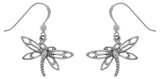 Jewelry Trends Sterling Silver Dragonfly Dangle Earrings