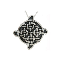 Jewelry Trends Sterling Silver Ulbster Celtic Shield Pendant on 18 Inch Box Chain Necklace