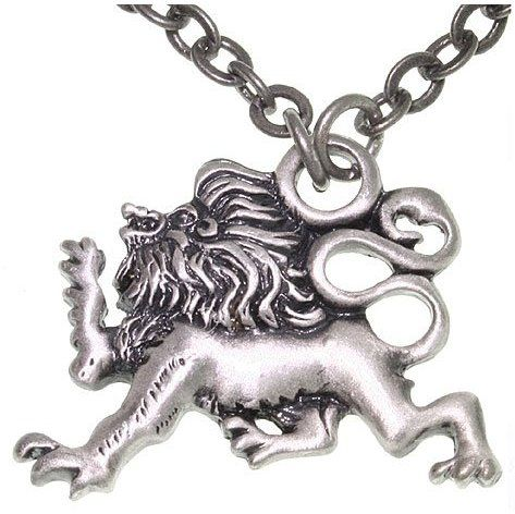 Jewelry Trends Pewter Lion of Protection Unisex Pendant on 24 Inch Chain Necklace