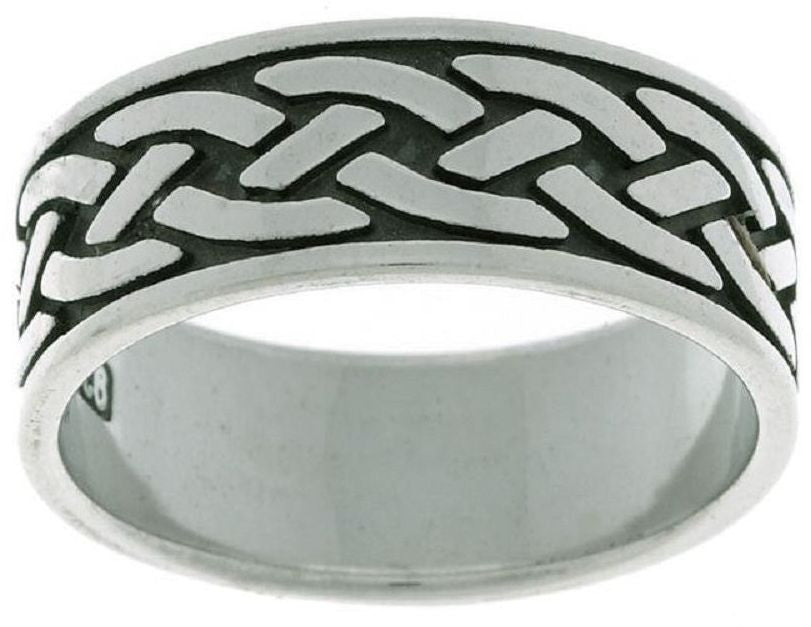 Jewelry Trends Sterling Silver Traditional Braided Knot Celtic Band Ring