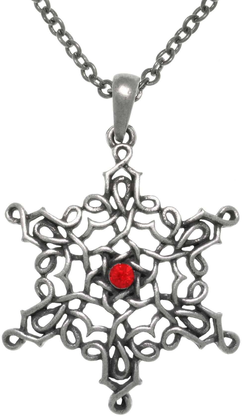 Jewelry Trends Pewter Celtic Knot Star Of Creation Pendant on 24 Inch Chain Necklace