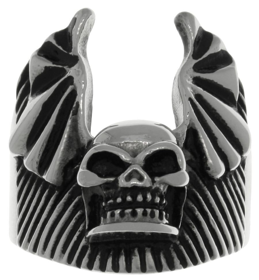 Jewelry Trends 316L Surgical Stainless Steel Skull Bat Wing Ring Whole Sizes 9 - 14 - 9