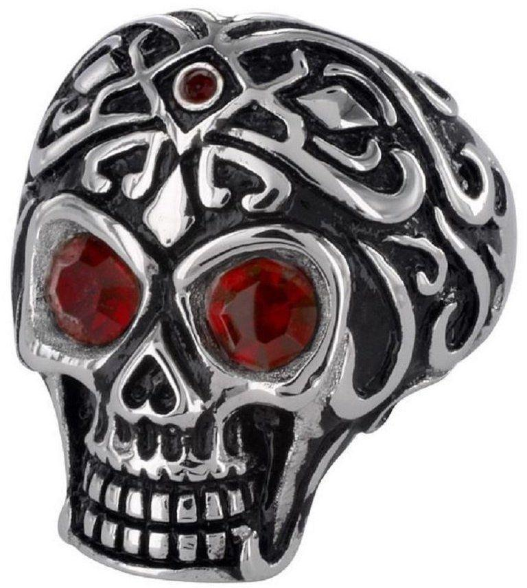 Jewelry Trends Stainless Steel Tribal Skull Ring Size 10