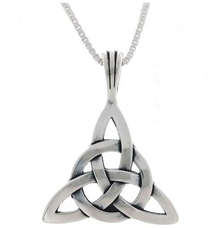 Jewelry Trends Sterling Silver Celtic Circle of Life Triquetra Pendant with 18 Inch Chain Necklace