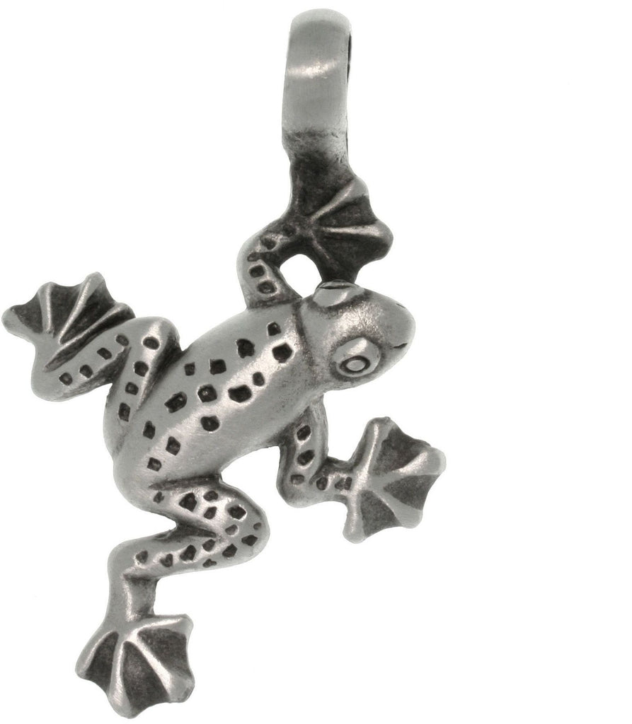 Jewelry Trends Antiqued Pewter Jumping Frog Pendant