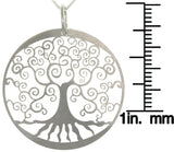 Jewelry Trends Sterling Silver Laser-cut Tree of Life Charm with 18 Inch Chain Necklace