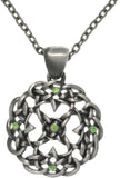 Jewelry Trends Pewter Celtic Knot Mandala Center Star Pendant with 24 Inch Link Chain Necklace