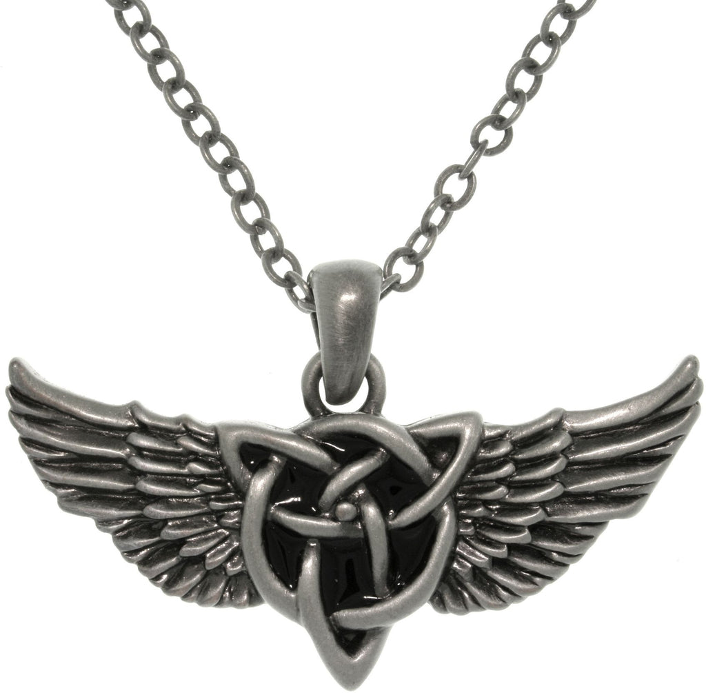Jewelry trends collection wings jewelry trends jewelry trends pewter alloy winged celtic knot pendant with 23 inch chain necklace biocorpaavc