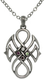 Jewelry Trends Pewter Alloy Celtic Tribal Knot Pendant with 23 Inch Chain Necklace
