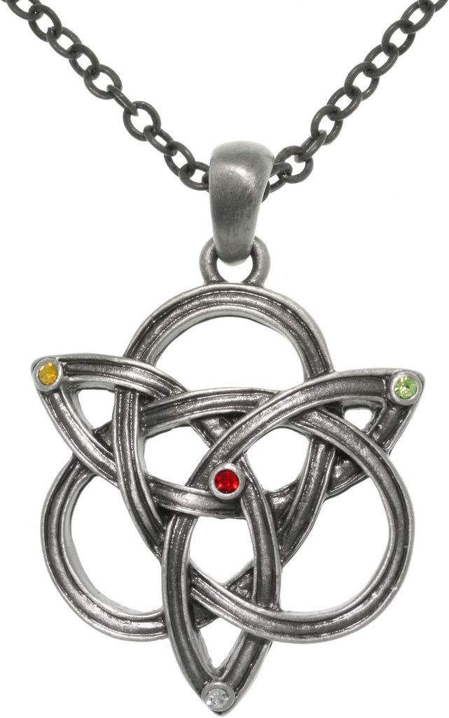 Jewelry Trends Pewter Celtic Knot Trinity Pendant on a 24 Inch Chain Necklace