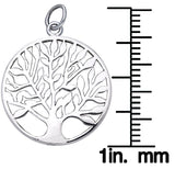 Jewelry Trends Sterling Silver Celtic Tree of Life Charm Pendant on 18 Inch Box Chain Necklace