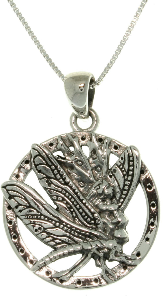 Jewelry Trends Sterling Silver Jody Bergsma Dragonfly Fairy Necklace