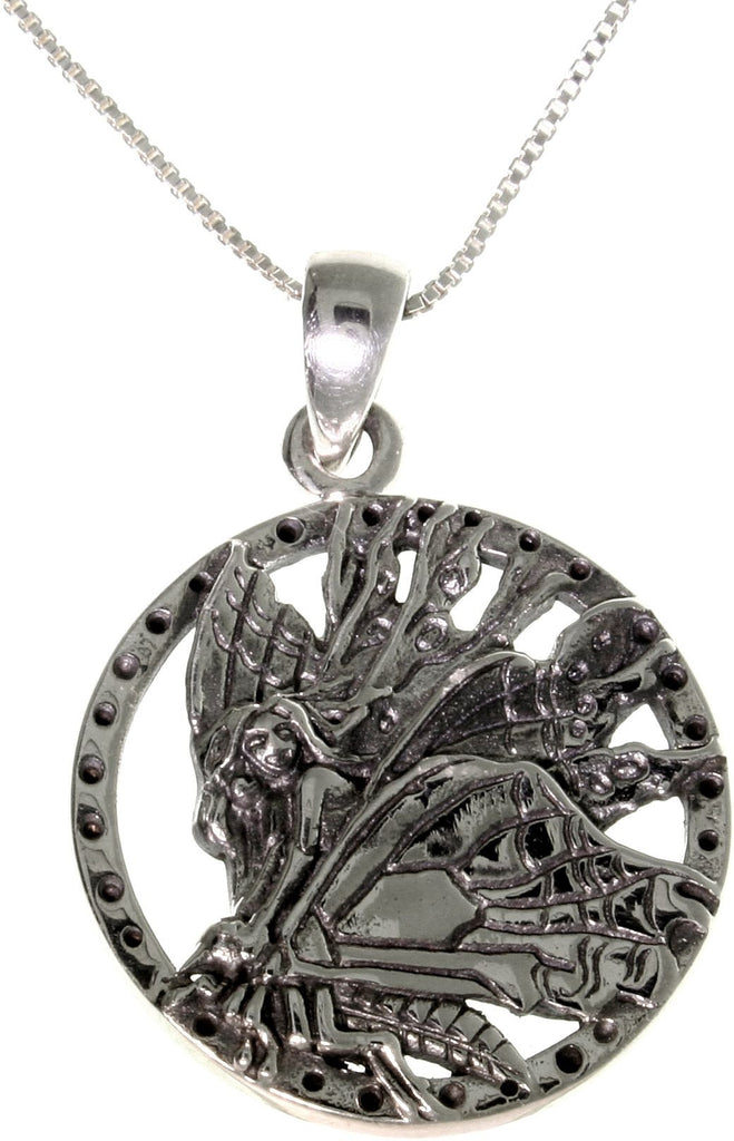 Jewelry Trends Sterling Silver Jody Bergsma Butterfly Fairy Necklace