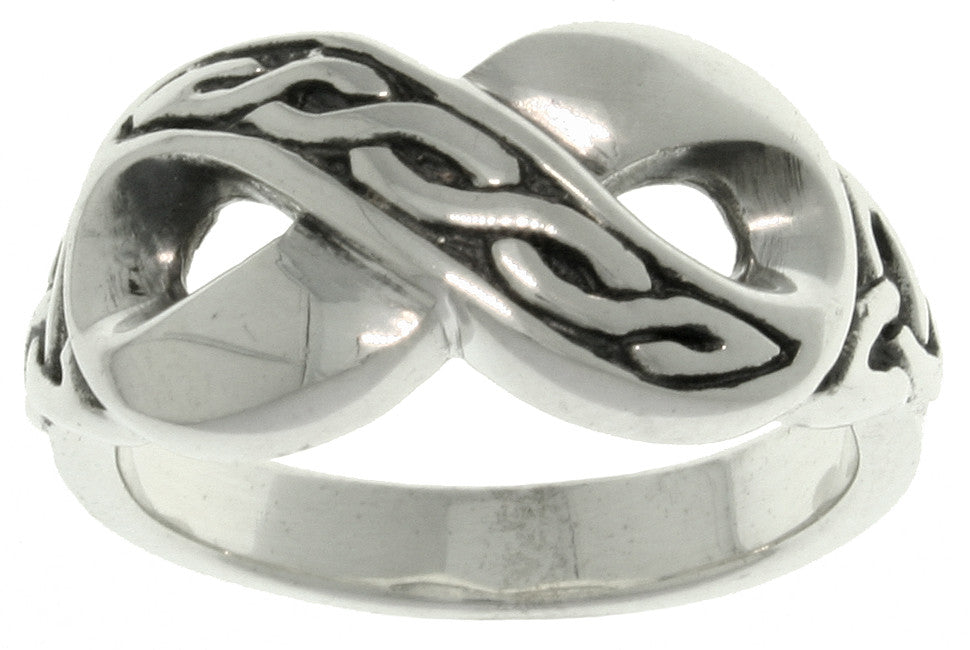 Jewelry Trends Sterling Silver Celtic Infinity Knot Band Ring Whole Sizes 5 - 13
