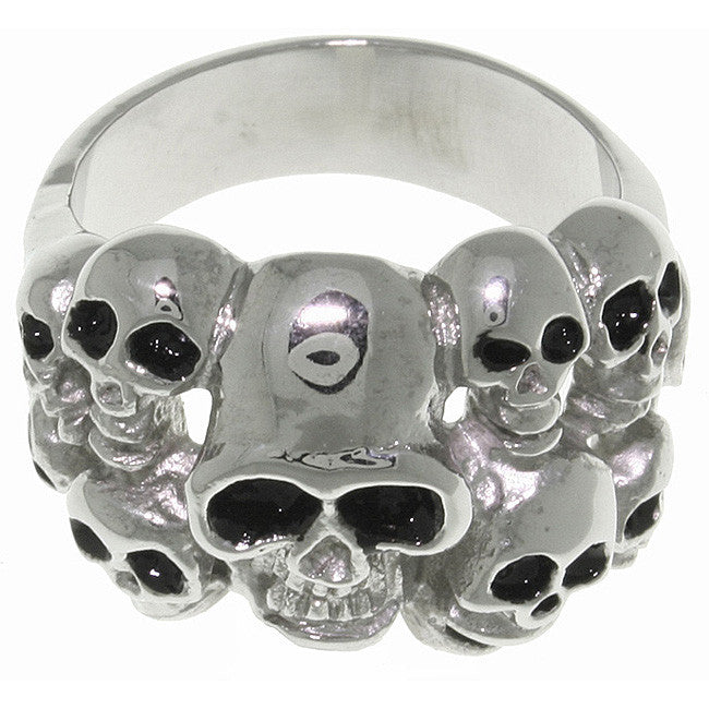 Jewelry Trends Stainless Steel Ten Skulls Ring Whole Sizes 9 - 14