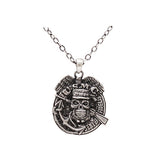 Jewelry Trends Pewter Marines Insignia with Skull Pendant on 24 Inch Chain Necklace
