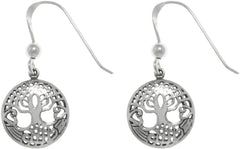 Jewelry Trends Sterling Silver Petite Tree Of Life Celtic Dangle Earrings