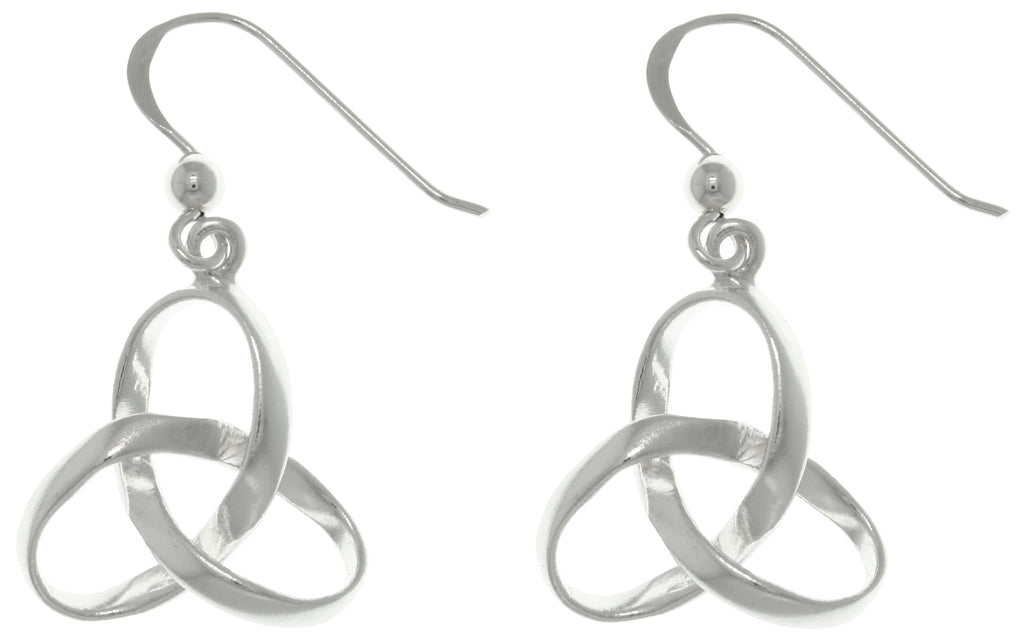 Jewelry Trends Sterling Silver Celtic Trinity Knot Dangle Earrings