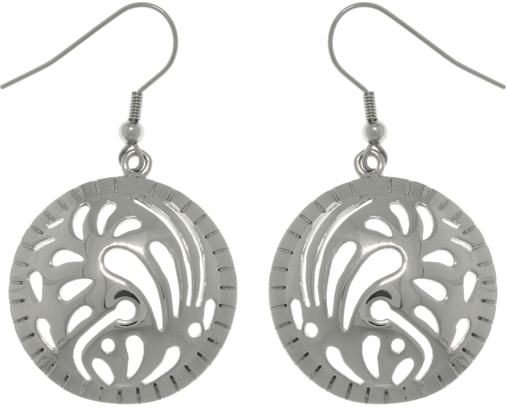 Jewelry Trends Stainless Steel Designer Dome Circle Dangle Earrings