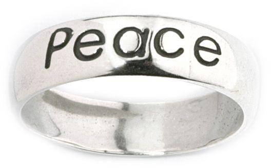 Jewelry Trends Sterling Silver 'Peace' Ring Size 6