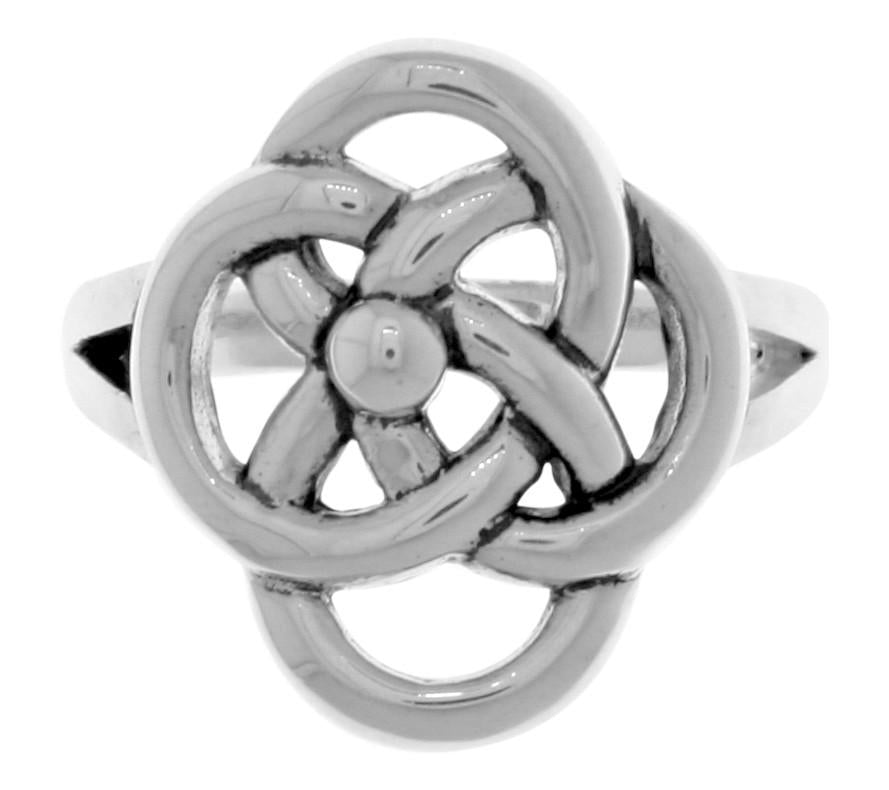Jewelry Trends Silver Plated Bronze Celtic Knot Five Fold Symbol Ring Whole Sizes 5 - 10 - 5