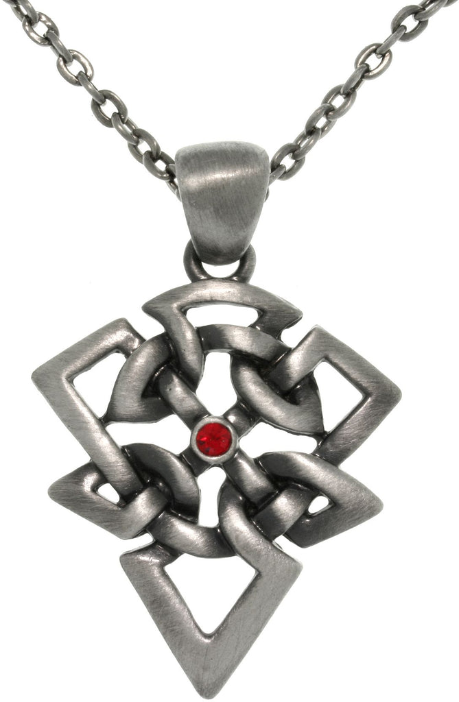 Jewelry Trends Pewter Celtic Arrow Triangle Protection Pendant on 24 Inch Chain Necklace