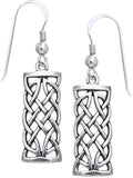 Jewelry Trends Sterling Silver Celtic Knot Dangle Earrings Symbol for Creativity Braided Irish Design