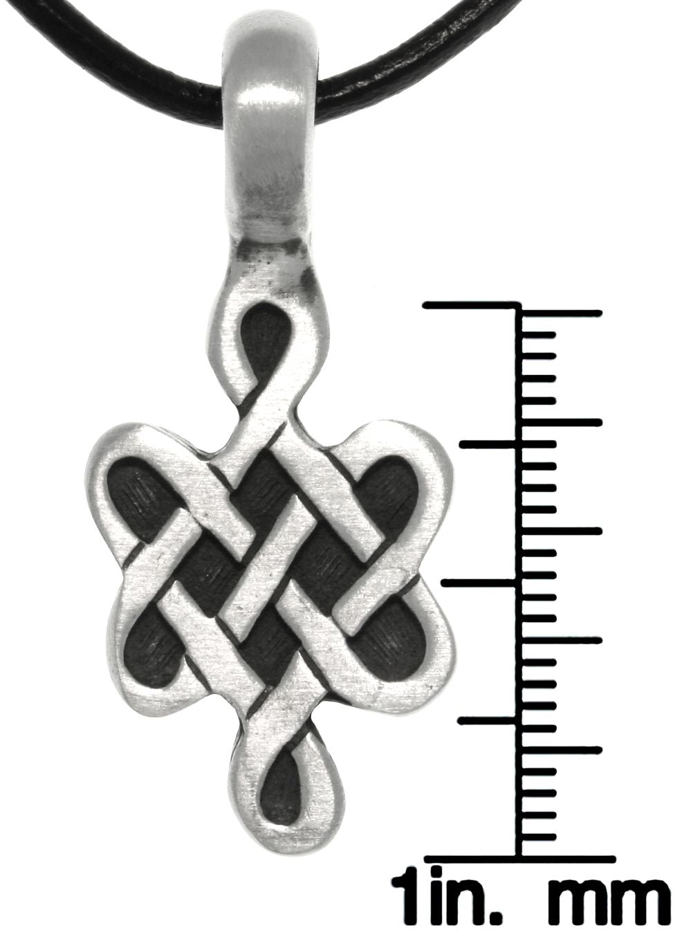Jewelry Trends Pewter Celtic Love Knot Symbol Pendant On Black