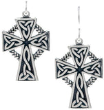 Jewelry Trends Sterling Silver Celtic Cross with Circle of Life Dangle Earrings