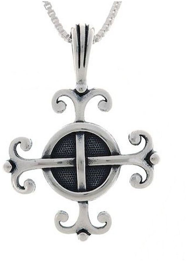 Jewelry Trends Sterling Silver Celtic Wisdom Pendant with 18 Inch Chain Necklace