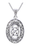 Jewelry Trends Sterling Silver Celtic Infinity Knot Pendant on 18 Inch Box Chain Necklace
