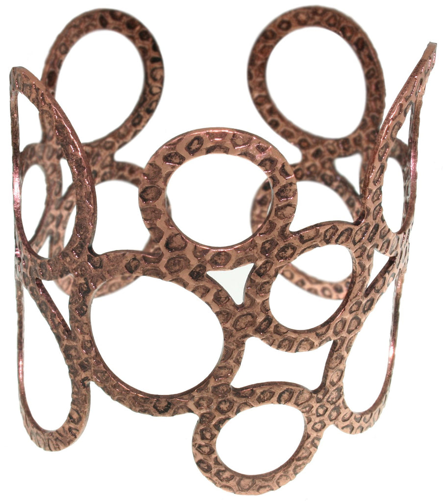 Jewelry Trends Steel Coppertone Open Circle Cuff Bracelet
