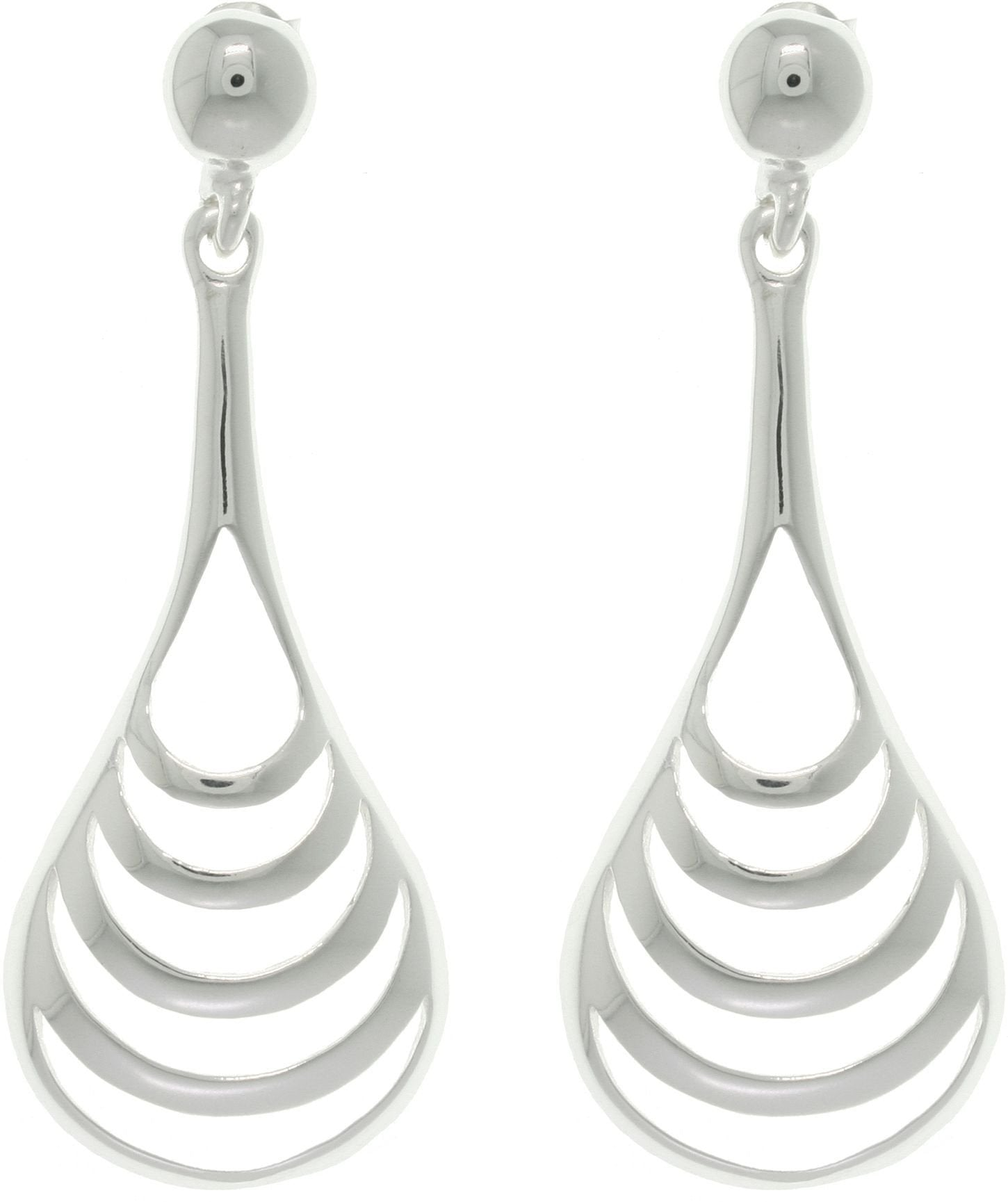 Jewelry Trends Sterling Silver Polished Curve Drop Earrings