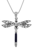 Jewelry Trends Sterling Silver Fancy Dragonfly Pendant