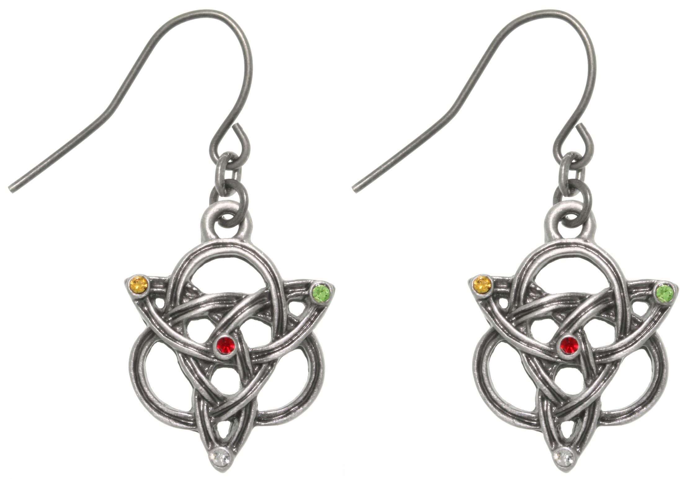 Jewelry Trends Pewter Celtic Knotted Trinity Earrings