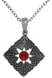 Jewelry Trends Pewter Red Power Stone Dominatrix Celtic Pendant on Chain Necklace