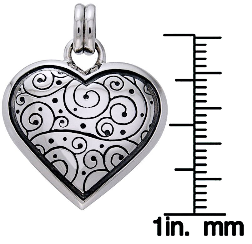 49283f69449d3 Jewelry Trends Sterling Silver Celtic Spiral Heart Pendant on 18 Inch Box  Chain Necklace