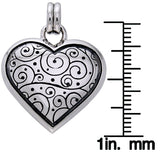 Jewelry Trends Sterling Silver Celtic Spiral Heart Pendant on 18 Inch Box Chain Necklace