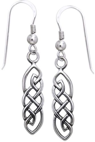 Jewelry Trends Sterling Silver Celtic Imagination Woven Dangle Earrings