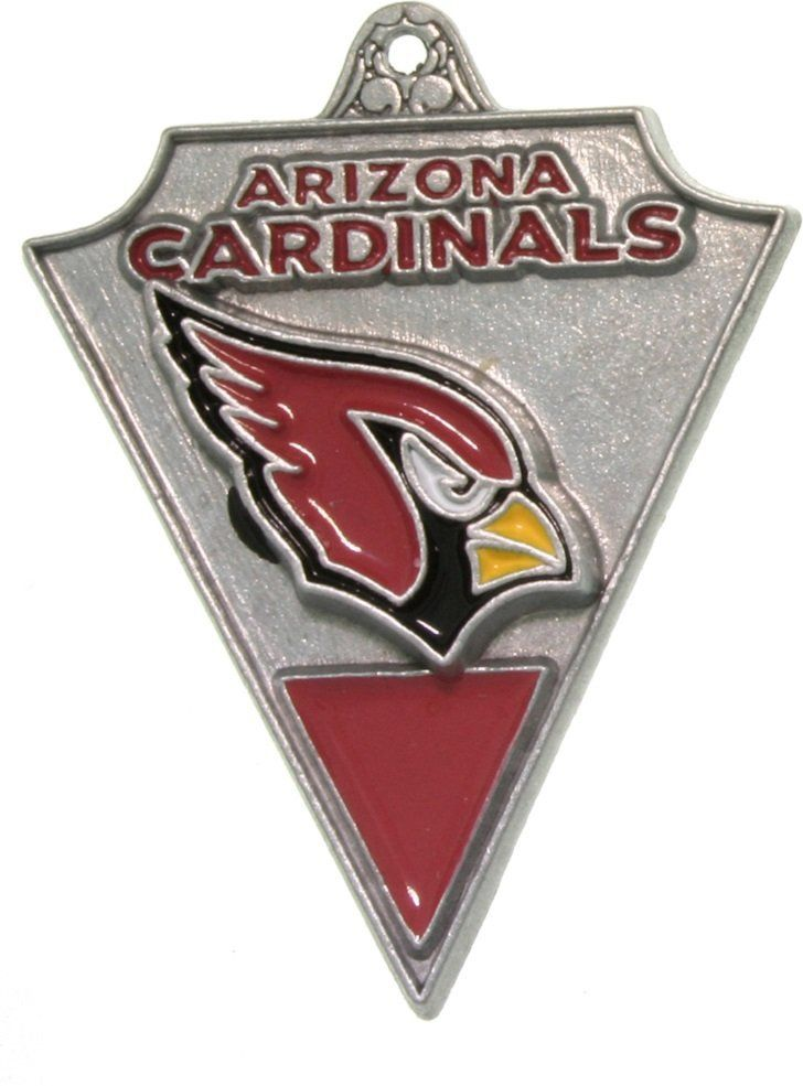 Jewelry Trends Pewter Arizona Cardinals NFL Pennant Pendant on Black Leather Necklace